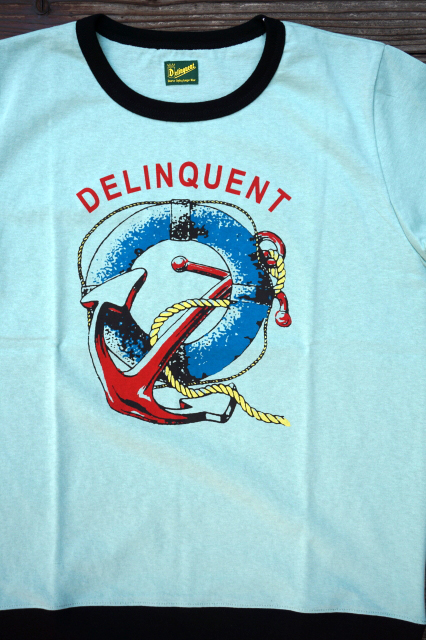 Delinquent Bros ANCHOR RIB TEE GREEN