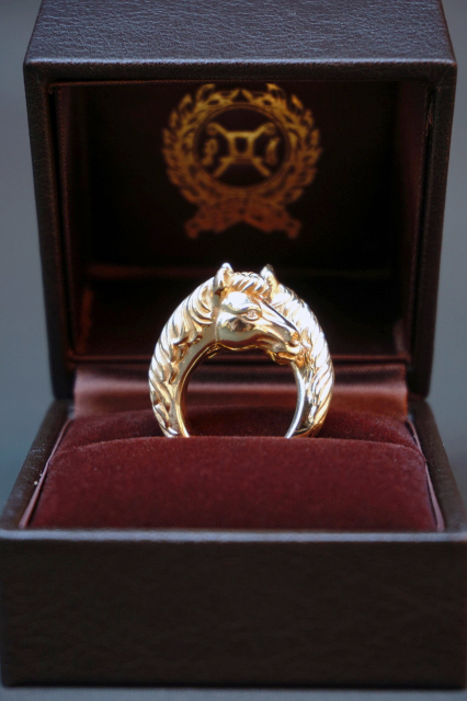 PEANUTS & Co. TWO FACE HORSE RING ☆K10 GOLD