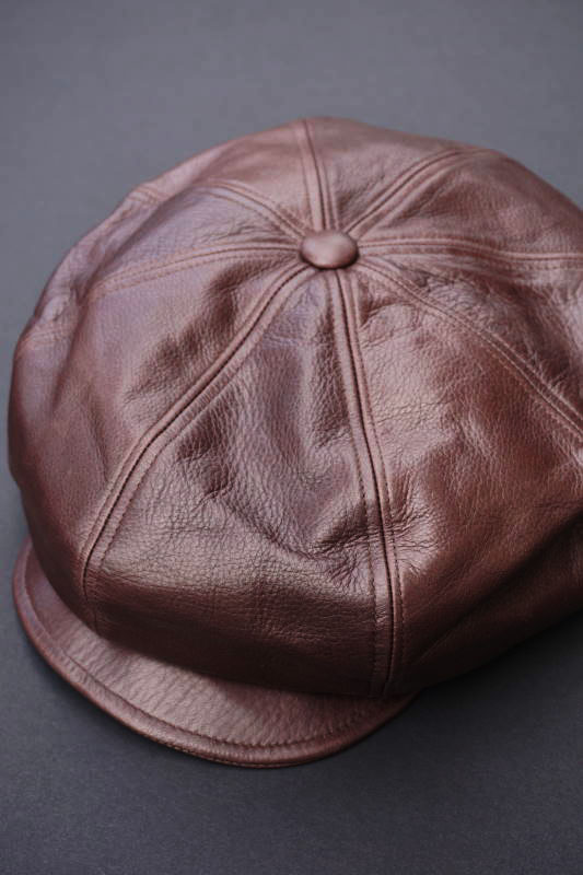 "GANGSTERVILLE THUG - CASQUETTE ""COW HIDE"" BROWN"