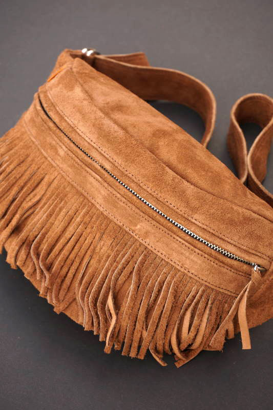 BAD QUENTIN SUEDE FANNY PACK BROWN
