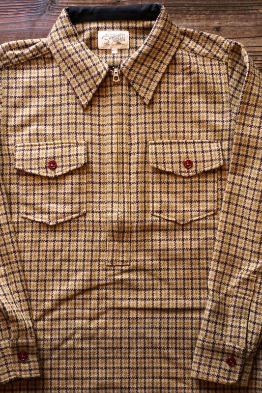 5 WHISTLE HOUND TOOTH SHIRT BROWN