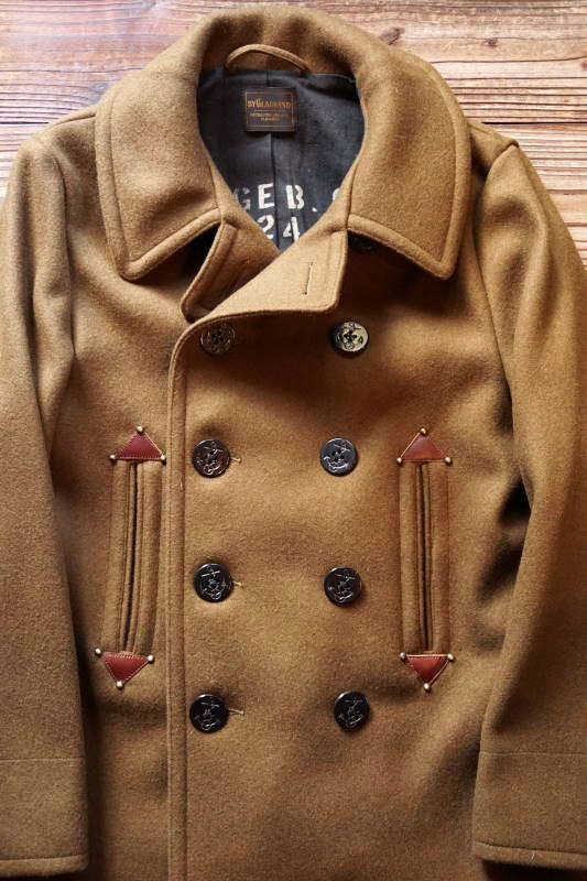 BY GLAD HAND GLADDEN - PEA COAT KHAKI