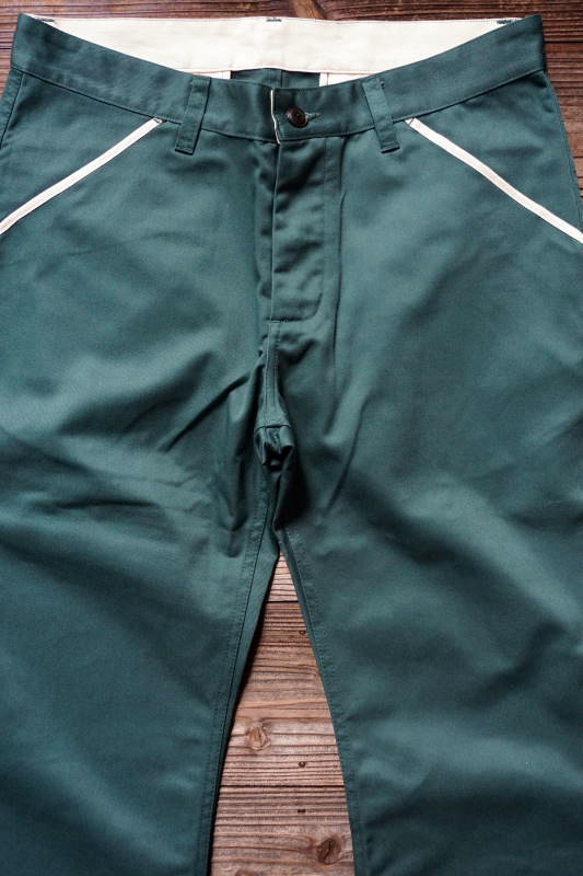 5 WHISTLE WORK PANTS GREEN