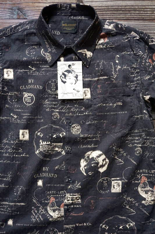 BY GLAD HAND LETTER - SHORT SLEEVE SHIRTS BLACK