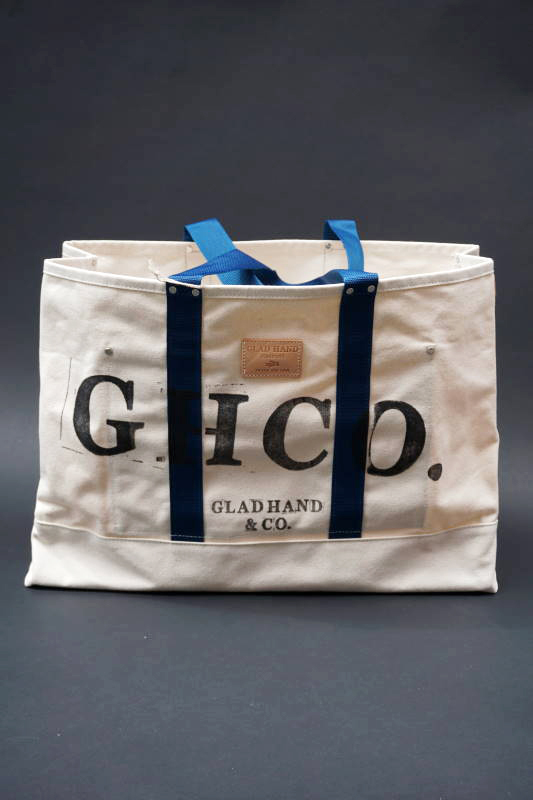 GLAD HAND × HERITAGE GH CANVAS - LARGE TOTE BLUE