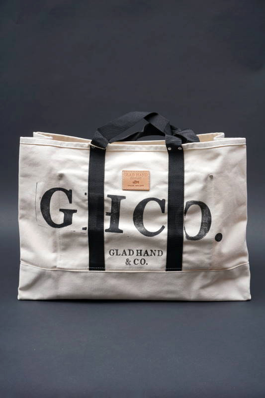 GLAD HAND × HERITAGE GH CANVAS - LARGE  TOTE BROWN