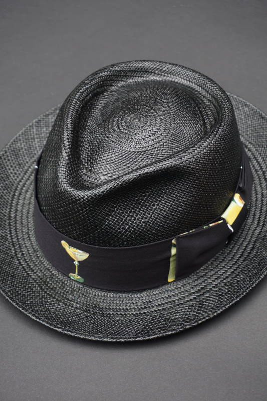 5 WHISTLE TIKI BAR HAT BLACK