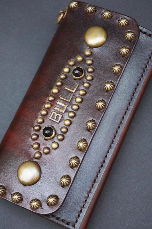 """B.S.M.G. B.O. Hand Die Heritage Wallet """"CUSTOM BRASS"""" BROWN"""