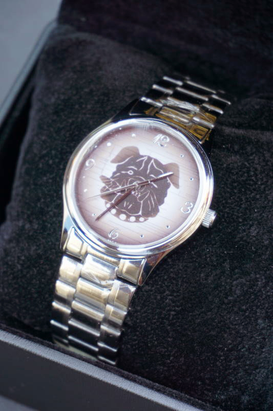 B.S.M.G. B.O. Watch METAL BELT SILVER BULL