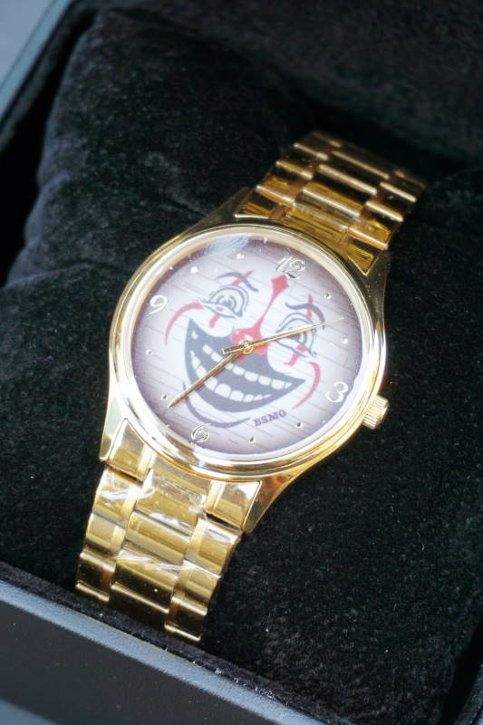 B.S.M.G. B.O. Watch METAL BELT GOLD CLOWN