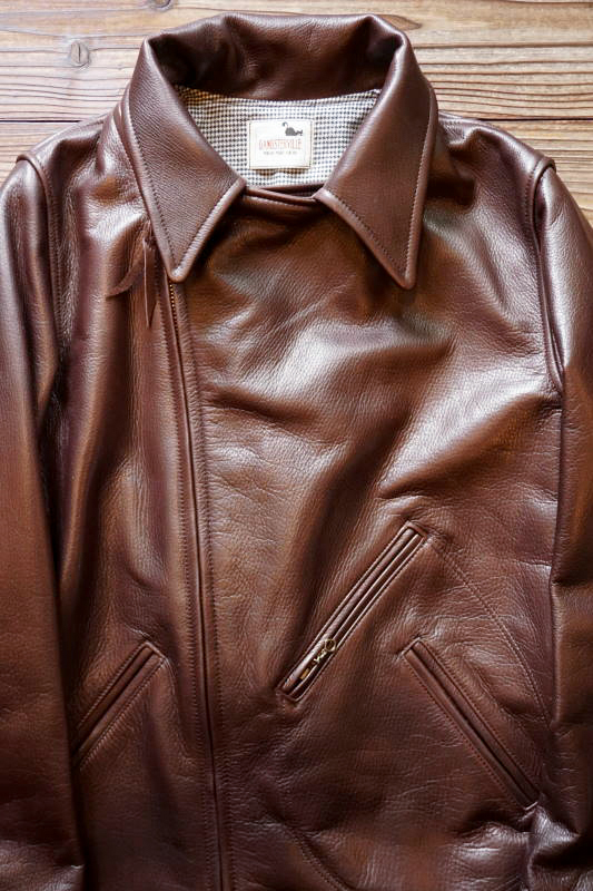 "GANGSTERVILLE MOTORCYCLE - JACKET ""COW HIDE"" BROWN"