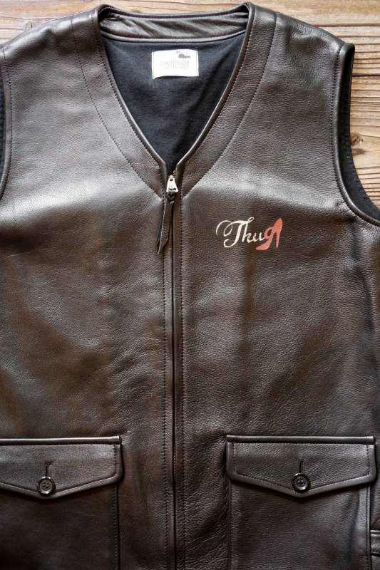 "GANGSTERVILLE THUG - VEST ""COW HIDE"" BLACK"