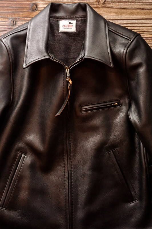 "GANGSTERVILLE SPORTS - JACKET ""COW HIDE"" BLACK"