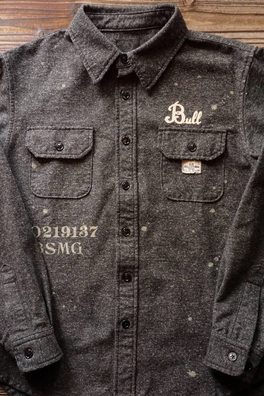 B.S.M.G. WORK - L/S SHIRTS BLACK