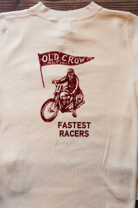 OLD CROW FASTEST - L/S T-SHIRTS WHITE