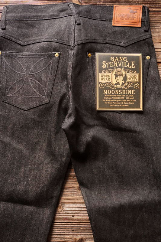 "GANGSTERVILLE THUG - DENIM ""IRONCROSS"" ※BLACK RIGID BLACK"