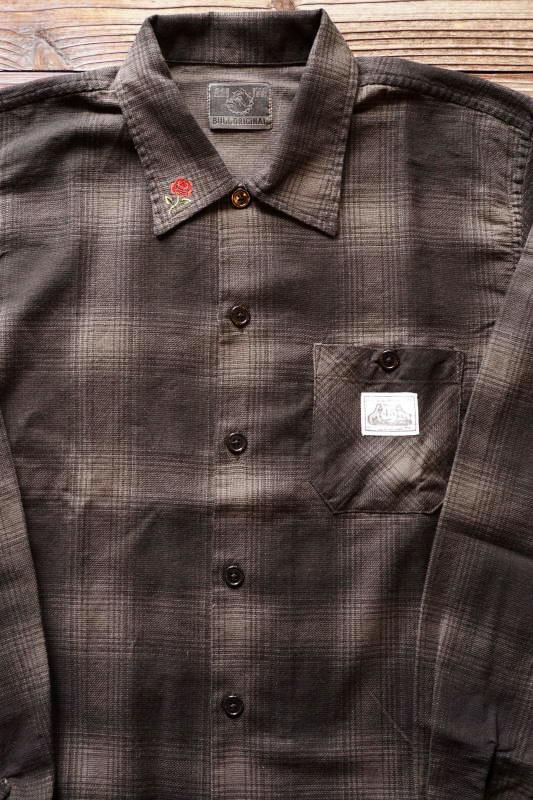 B.S.M.G. CHECK - L/S SHIRTS BLACK