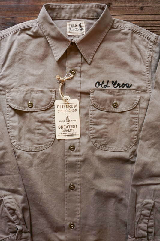 OLD CROW 1933 - L/S SHIRTS GRAY