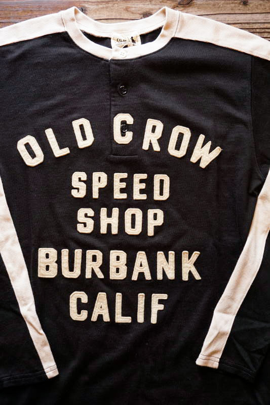 OLD CROW MOTORCYCLE - L/S T-SHIRTS BLK×IVR