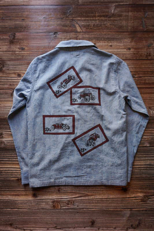 OLD CROW OLD LETTERS - L/S SHIRTS INDIGO