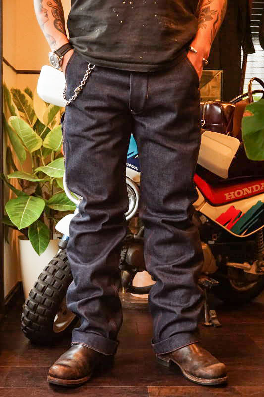 OLD CROW OLD PAINTER - DENIM  PANTS RIGID