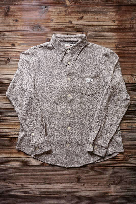 GANGSTERVILLE PAISLEY - L/S SHIRTS GRAY