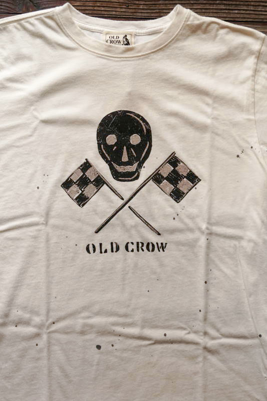 OLD CROW OLD SKULL - S/S T-SHIRTS WHITE