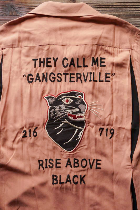 GANGSTERVILLE RISE ABOVE - BOWLING SHIRTS PINK