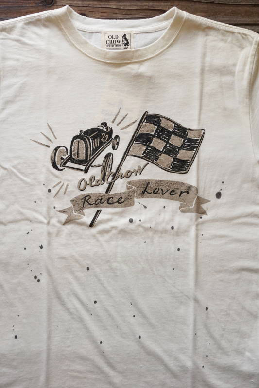 OLD CROW RACE LOVER - S/S T-SHIRTS WHITE