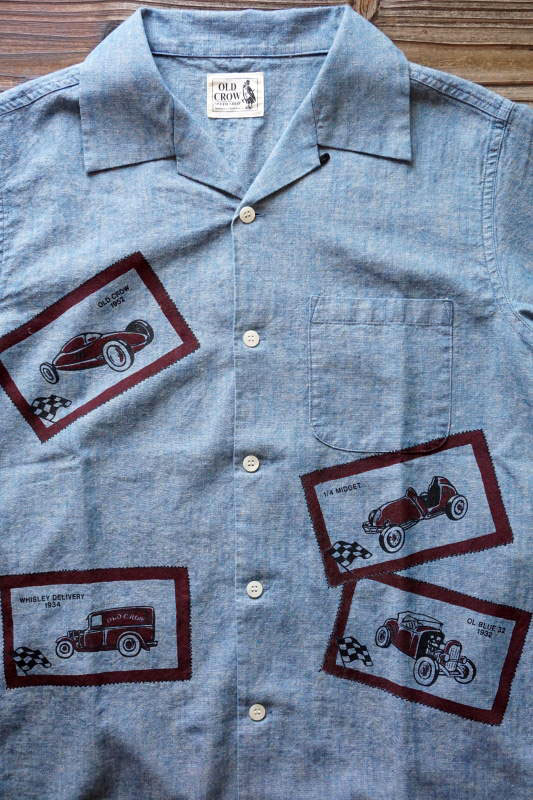 OLD CROW OLD LETTERS - S/S SHIRTS INDIGO