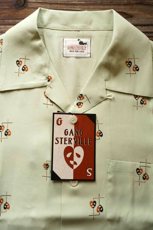 GANGSTERVILLE COMEDY TRAGEDY - S/S SHIRTS GREEN