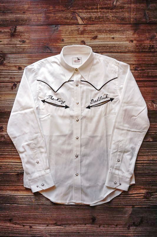 GANGSTERVILLE BAD LUCK - L/S SHIRTS WHITE