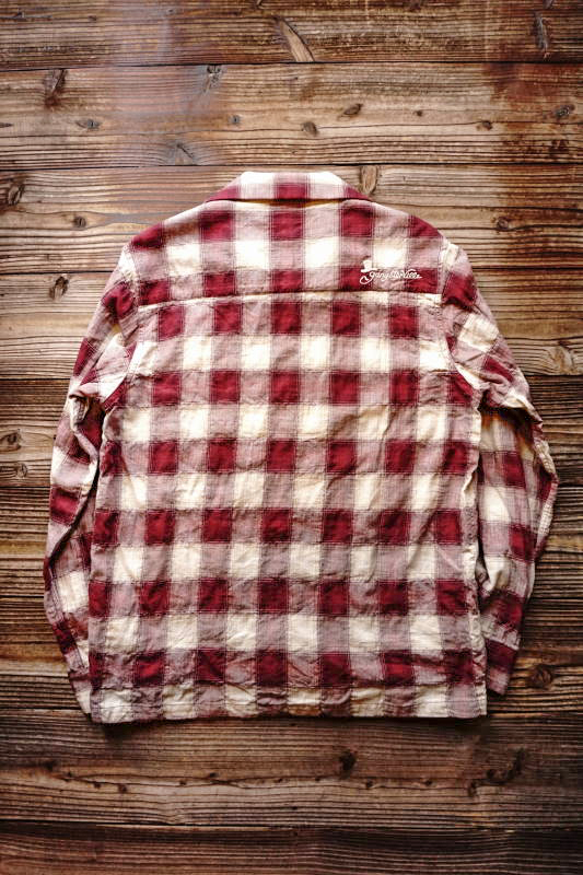 GANGSTERVILLE JAMES - L/S SHIRTS BURGUNDY