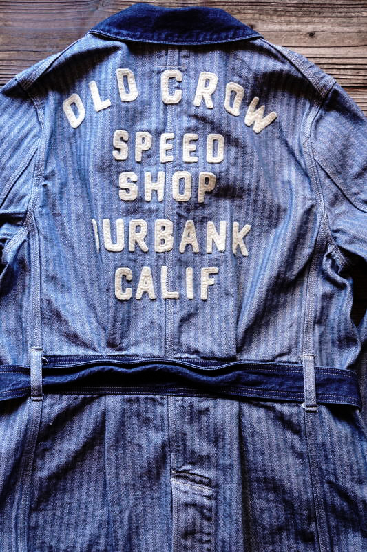 OLD CROW SPEED SHOP - COAT ※MIDDLE INDIGO