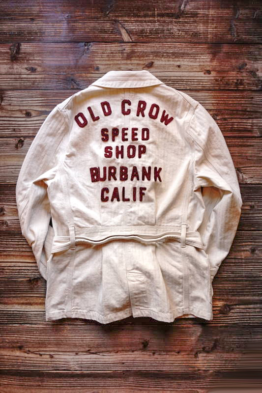 OLD CROW SPEED SHOP - COAT ※MIDDLE IVORY
