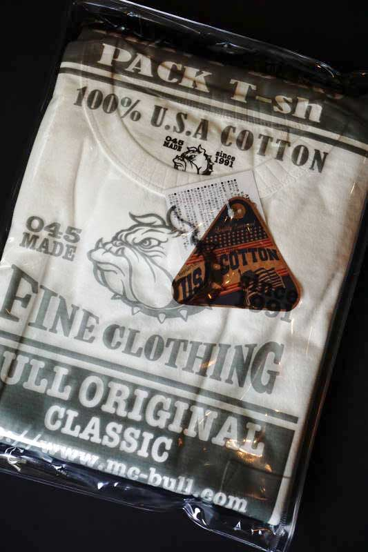 Bull Classics USA COTTON 100% 2PACK T-SHIRTS  CREW NECK POCKET