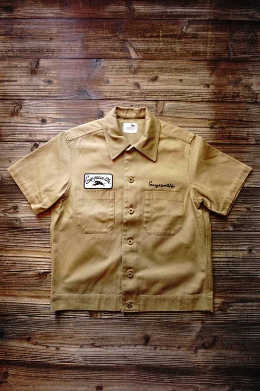 GANGSTERVILLE GREASER - S/S SHIRTS BEIGE