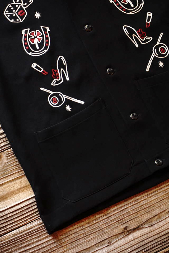 GANGSTERVILLE HAVANA CLUB -  S/S CUBA SHIRTS BLACK