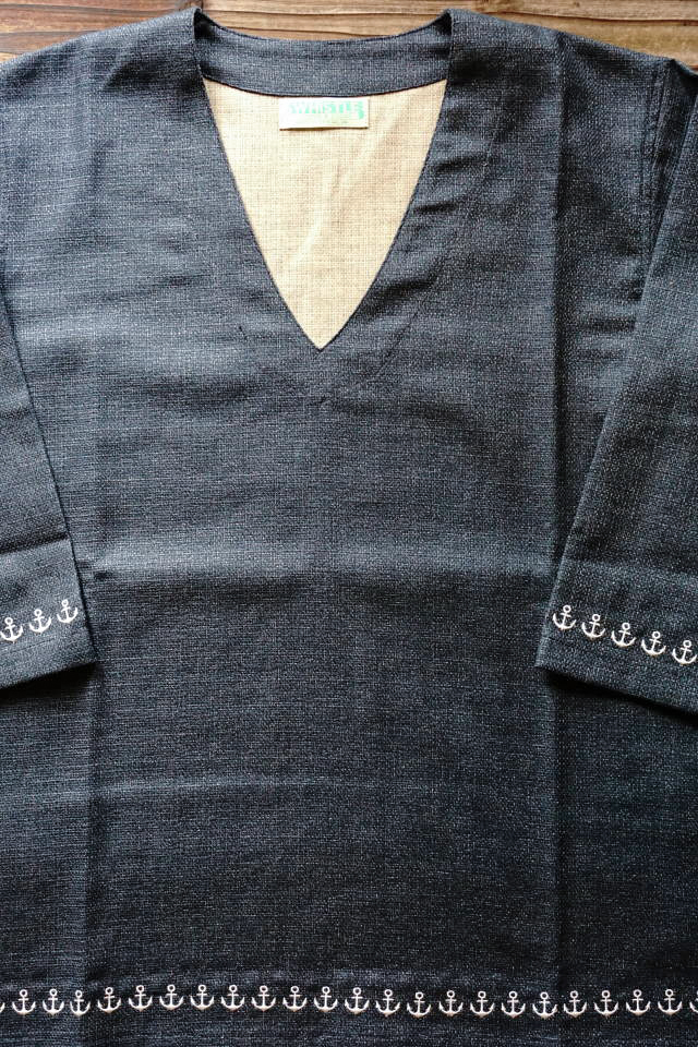 5 WHISTLE ANCHOR SHIRT INDIGO BLUE