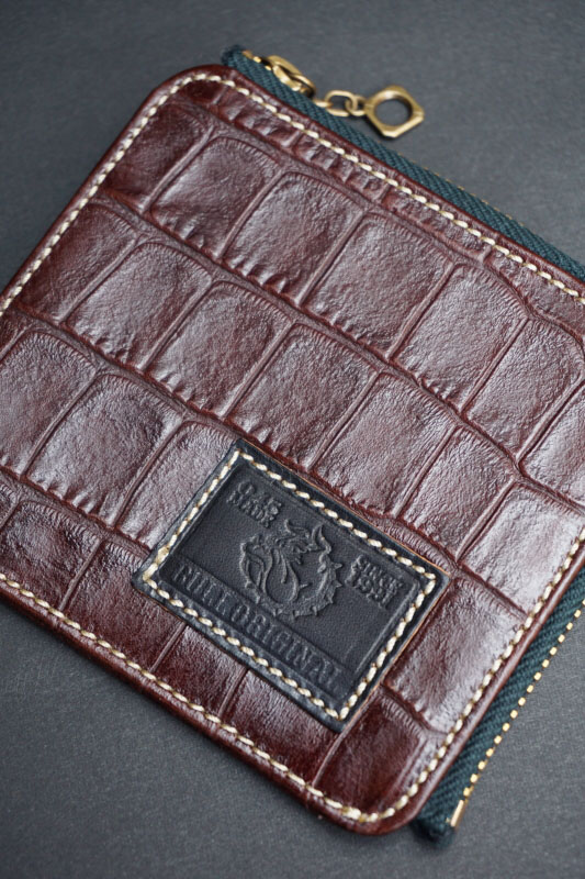 B.S.M.G. B.O. Square Coin Case BRN CROCO