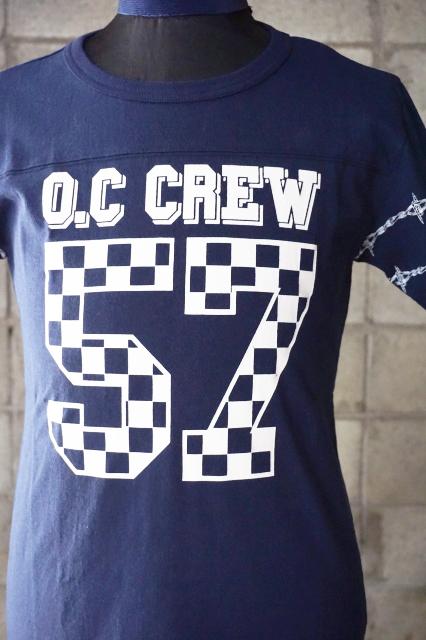 "O.C CREW ""HOLE""FOOTBALL Tee NAVY"