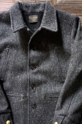 BY GLAD HAND 50'S WOOL CAR COAT BLACK