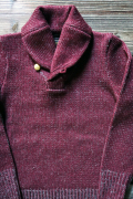 BY GLAD HAND GLADDEN SHAWL SWEATER BURGUNDY