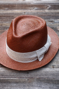 BY GLAD HAND PANAMA HAT BROWN
