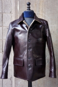 BY GLAD HAND CAR COAT - HORSE HIDE BRN/BEG