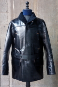BY GLAD HAND SHAWL CAR COAT - HORSE HIDE LONG BLACK