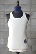 BY GLAD HAND HEARTLOCK - DROP STITCH TANKTOP WHITE