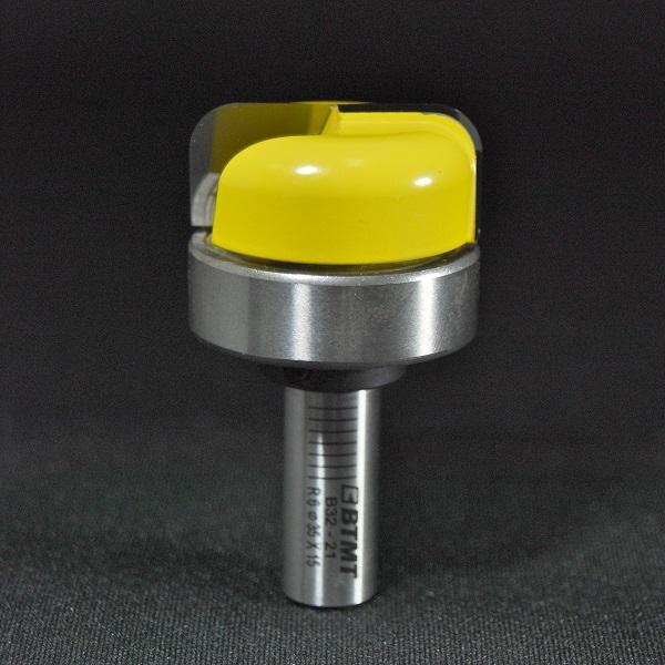高品質なルータービット「日本現場仕様のBTMT」専門ショップ                        B32-20  刃径20mm ディッシュビット(ベアリング付き)6mm軸