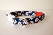 <堀商店>真っ白の花柄がキュートなカラー(Flower Collar)