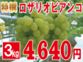 特撰ロザリオビアンコ3kg 【発送期間】9月上旬〜下旬